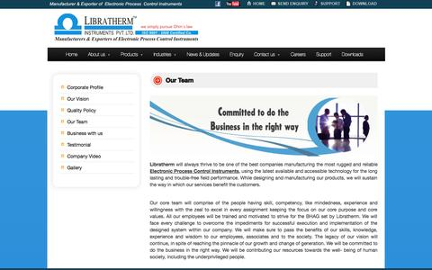 Screenshot of Team Page libratherm.com - Our Team | Libratherm Instruments Pvt. Ltd. - captured Oct. 1, 2014