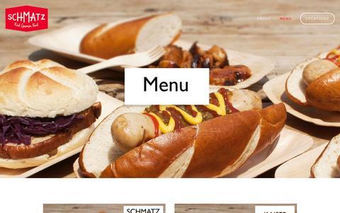 Screenshot of Menu Page schmatz.jp - Menu — Schmatz - captured Sept. 30, 2014