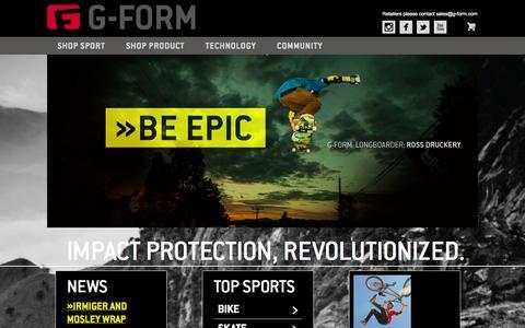 Screenshot of Home Page g-form.com - Home G-Form - captured Sept. 23, 2014