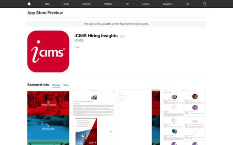 iCIMS Hiring Insights on the AppStore