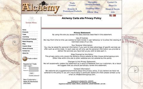 Screenshot of Privacy Page alchemygroup.com - Contact Alchemy : Alchemy Carta UK - captured Sept. 24, 2014