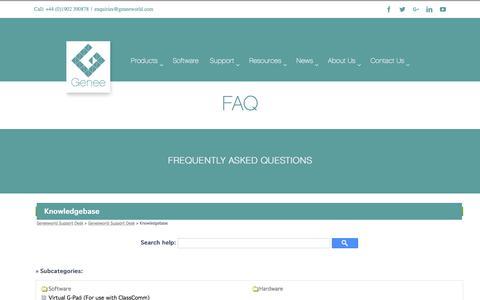 Screenshot of FAQ Page geneeworld.com - FAQ - Genee World - captured May 16, 2017