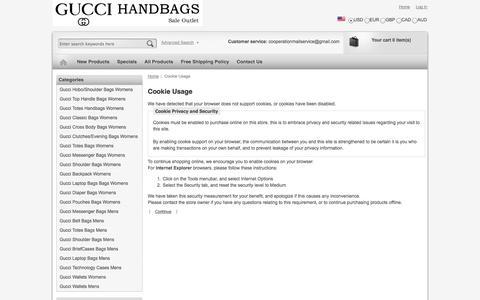 Screenshot of Login Page vernastarlingphotography.com - Cookie Usage : Gucci Messenger Bag - captured Oct. 29, 2014