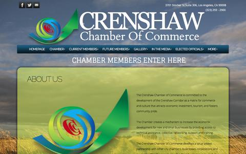 Screenshot of About Page crenshawchamber.com - Crenshaw Chamber of Commerce - ABOUT US - captured Jan. 23, 2017