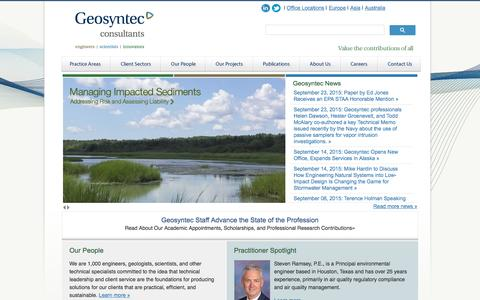 Screenshot of geosyntec.com - Geosyntec Consultants - Engineers and Scientists - captured Sept. 24, 2015