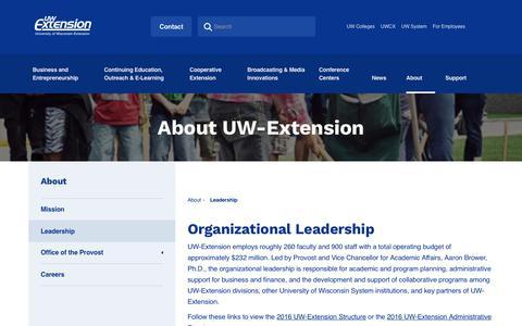 Screenshot of Team Page uwex.edu - Leadership | UW Extension - captured Oct. 14, 2017