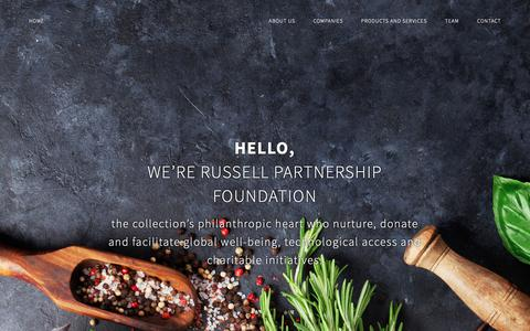 Screenshot of Support Page russellpartnership.com - Restaurant Consultant London - Russell Partnership Foundation - captured Nov. 19, 2018