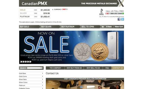 Screenshot of Contact Page canadianpmx.com - Welcome to CanadianPMX - captured Sept. 24, 2014