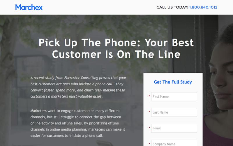 Marchex - Pick Up The Phone: Your Best Customer Is On The Line