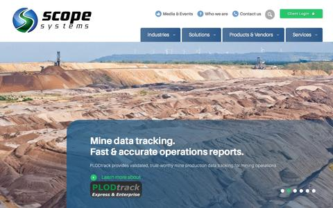 Screenshot of Home Page scopesystems.com.au - Business Intelligence, ERP & Data Management Solutions | Scope Systems - captured May 17, 2017