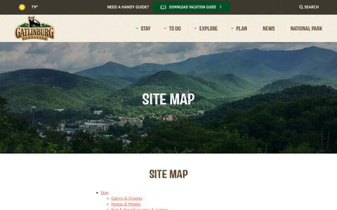 Screenshot of Site Map Page gatlinburg.com - Site Map | Gatlinburg, TN - captured June 28, 2017