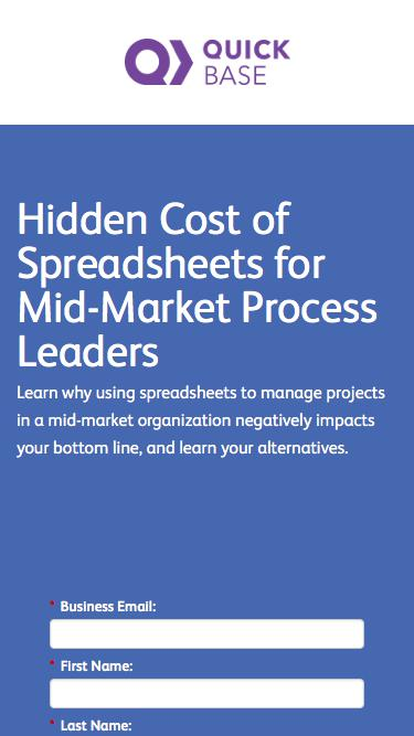 Hidden Cost of Spreadsheets for Mid-Market Process Leaders