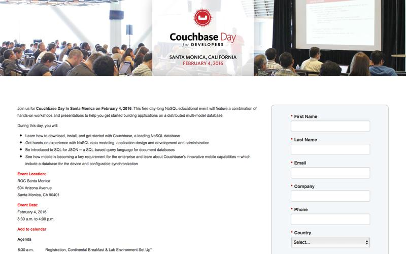 Couchbase Day for Developers in Santa Monica