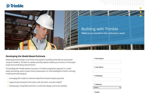 Screenshot of Landing Page trimble.com captured Nov. 13, 2016