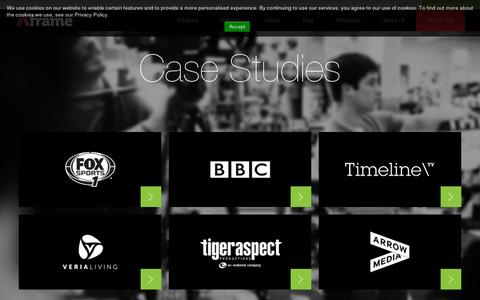 Screenshot of Case Studies Page aframe.com - Aframe :: Case Studies - captured July 20, 2014