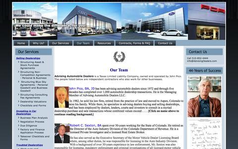 Screenshot of Team Page advisingdealers.com - Our People - captured Nov. 20, 2016