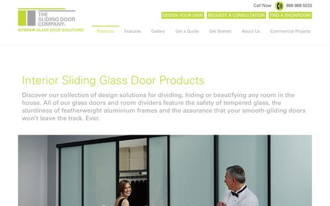Screenshot of Privacy Page Products Page slidingdoorco.com - Interior Sliding Glass Doors, Wall Partitions, Barn doors - captured Oct. 23, 2017