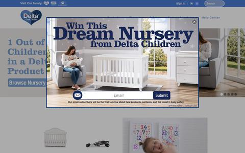 Screenshot of Home Page deltachildren.com - Delta Children's Products | Delta Children - captured Aug. 10, 2016