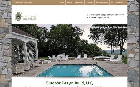 Screenshot of Home Page outdoordesignbuild.com - Outdoor Design Build in Cincinnati. - captured Nov. 12, 2017