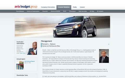 Screenshot of Team Page avisbudgetgroup.com - Avis Budget - Management - captured Sept. 19, 2014
