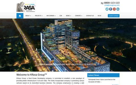 Screenshot of Home Page krasagroup.com - KRasa Group™ Official Site | Real Estate Builders & IT Park Developers Noida | Centrade Business Park - captured Feb. 1, 2016