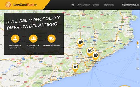 Screenshot of Home Page lowcostfuel.es - Low Cost Fuel - captured Sept. 30, 2014
