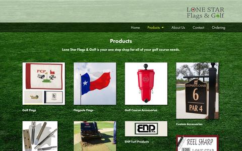 Screenshot of Products Page lonestargolfflag.com - Products - Lone Star Flags & Golf - captured Oct. 3, 2014