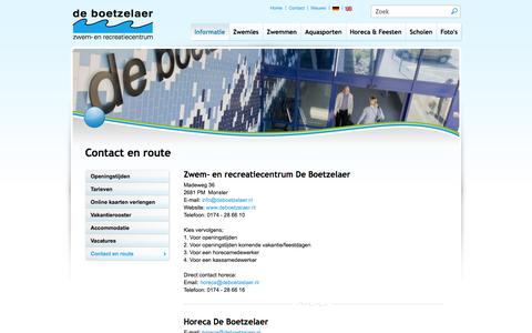 Screenshot of Contact Page deboetzelaer.nl - Contact en route - de Boetzelaer - captured Oct. 26, 2014