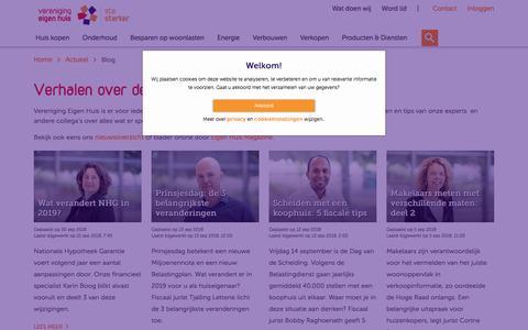 Screenshot of Blog eigenhuis.nl - Blog - Vereniging Eigen Huis - captured Sept. 23, 2018