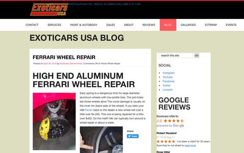 Screenshot of Blog exoticars-usa.com - Exoticars USA Blog - captured July 24, 2018