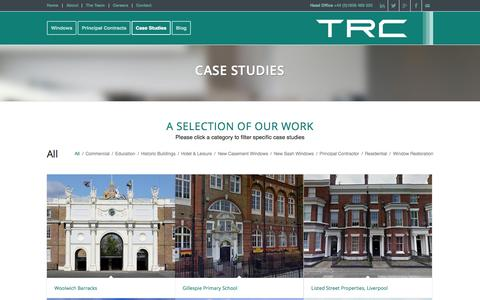 Screenshot of Case Studies Page trccontracts.com - Case Studies - TRC Contracts - captured Aug. 16, 2015