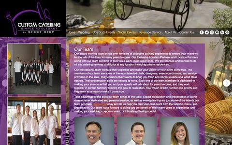 Screenshot of Team Page shortstopcustomcatering.com - Our Team - Custom Catering - captured Oct. 3, 2014