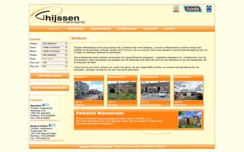 Screenshot of Home Page Site Map Page thijssenmakelaardij.nl - Thijssen Makelaardij - captured Oct. 9, 2014