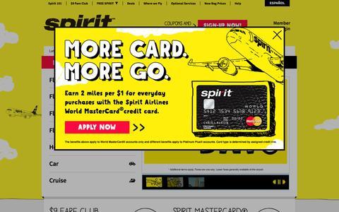 Screenshot of Home Page spirit.com captured Sept. 18, 2014