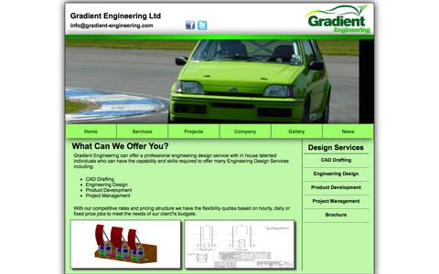 Screenshot of Services Page gradient-engineering.com - Gradient Engineering Ltd - www.gradient-engineering.com - captured Nov. 2, 2014