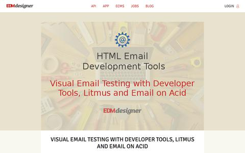 Screenshot of Blog edmdesigner.com - EDMdesigner | Responsive email editor API optimized for white-label integration - captured Aug. 16, 2017