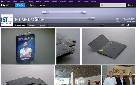 Screenshot of Flickr Page flickr.com - Flickr: IST METZ GmbH's Photostream - captured Oct. 23, 2014