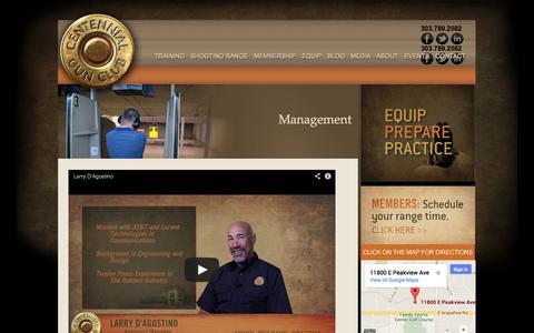 Screenshot of Team Page centennialgunclub.com - Centennial Gun Club management - captured Sept. 29, 2014
