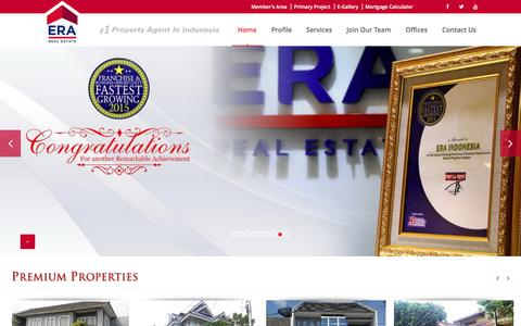 Screenshot of Home Page eraindonesia.com - ERA Indonesia | #1 Property Agent in Indonesia - captured April 7, 2017