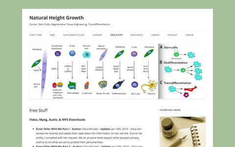 Screenshot of Products Page naturalheightgrowth.com - Free Stuff - Natural Height Growth - captured Nov. 6, 2014