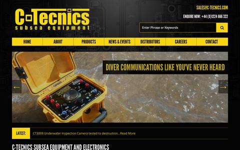 Screenshot of Home Page c-tecnics.com - C-Tecnics - Subsea Equipment and Electronics - captured Sept. 26, 2014