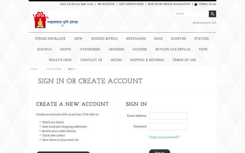 Screenshot of Login Page mybigcommerce.com - Nepalese Gift Shop - Sign in - captured Sept. 18, 2014
