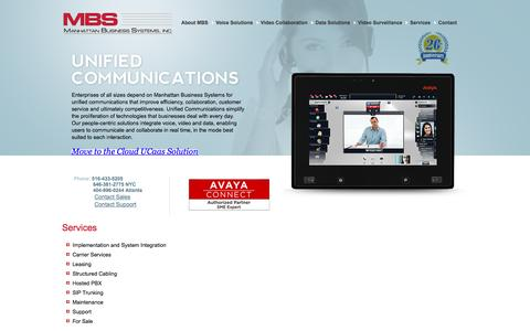 Screenshot of Services Page mbsnetworks.com - Services - Manhattan Business Systems, Inc. - captured Nov. 19, 2016