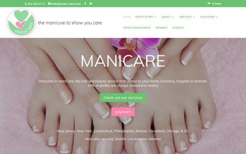 Screenshot of Home Page mani-care.com - ManiCare | The Manicare To Show You Care - captured July 9, 2018