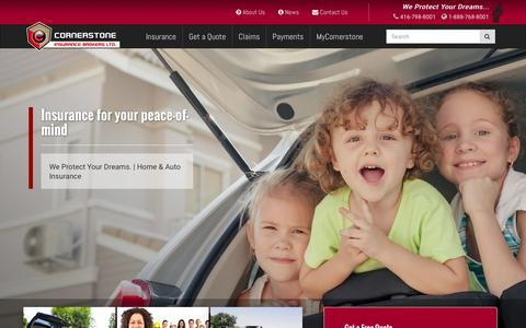 Screenshot of Home Page csib.org - Insurance Broker Toronto | Cornerstone Insurance Brokers - captured Jan. 31, 2016