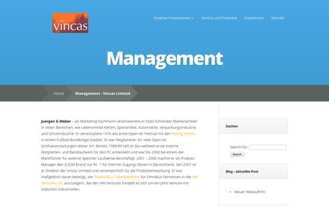 Screenshot of Team Page vincas.de - Management - Vincas Limited | Vincas Limited - captured Oct. 7, 2014