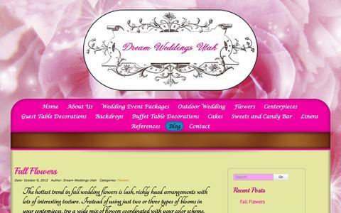 Screenshot of Blog dreamweddingsutah.com - Blog - Dream Weddings Utah - captured April 10, 2016