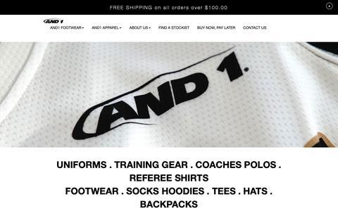 Screenshot of Team Page and1.com.au - Team Uniforms - captured Oct. 22, 2018