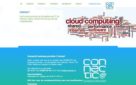 Screenshot of Contact Page connectic.nl - Contact | Connectic - captured Oct. 3, 2014