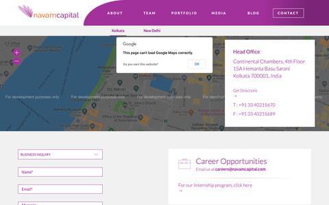 Screenshot of Contact Page navamcapital.com - Contact - Navam Capital - captured Oct. 20, 2018